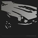 Datsun 240Z Detail - Gray on black by uncannydrive