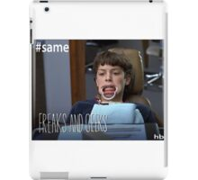 "Sam Weir ""Freaks and Geeks"" Teeth Shirt iPad Case/Skin"