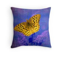 Blazing Bright Butterfly Throw Pillow