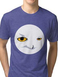 Snowy Owl Circle Tri-blend T-Shirt