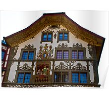 building in the old town in Lucerne Poster