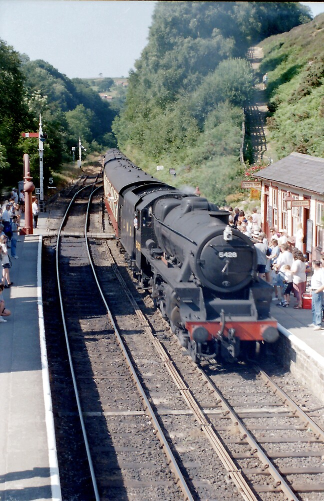 Black 5 arrives at Goathland by Edward Denyer