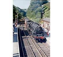 Black 5 arrives at Goathland Photographic Print