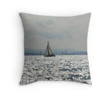 West Sussex Coast Throw Pillow