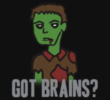 Got Brains? tee by Chloe van Leeuwen
