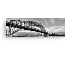 The Bridge - A Study in Black and White #3- The HDR Experience Canvas Print