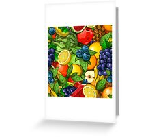 Veggiephile - Fruits Greeting Card
