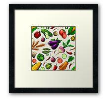 Veggiephile - Veggies Framed Print