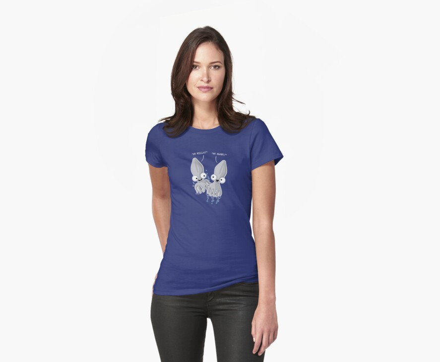 'Calamari' T-shirt Design with placement for Women's Tee by Bootee