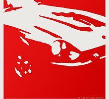 Datsun 240Z Detail - Red on white by uncannydrive