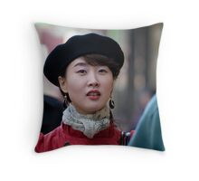 Collins Street Doll Throw Pillow