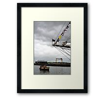 Viewing the Tall Ships Framed Print