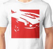 Datsun 240Z Detail - Red on white Unisex T-Shirt