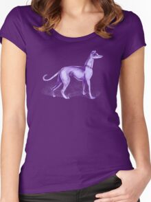 That One Purple Dog Shirt (Wordless) Women's Fitted Scoop T-Shirt