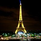 Eiffel by Night by Natasha M