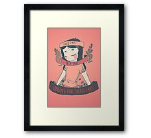 [cheese queen] Framed Print