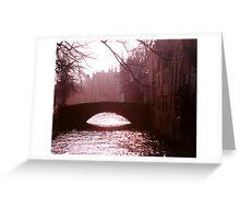 Evening Stroll, Bruges Greeting Card