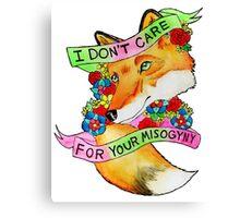 Feminist Fox v2 Canvas Print