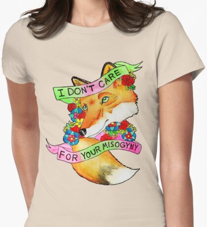 Feminist Fox v2 Womens Fitted T-Shirt