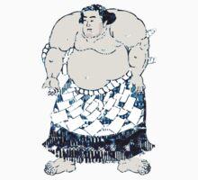 Rikishi Japanese Sumo in Blue Shibori Wrestler Wrestling Sports Kids Clothes