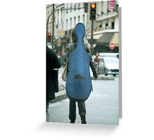 Musical street walker Greeting Card