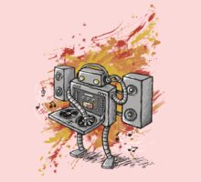 Robot DJ is in the House! One Piece - Short Sleeve