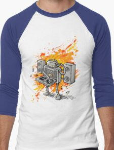 Robot DJ is in the House! Men's Baseball ¾ T-Shirt
