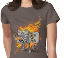 Robot DJ is in the House! Womens Fitted T-Shirt