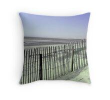 La plage du Touquet Throw Pillow