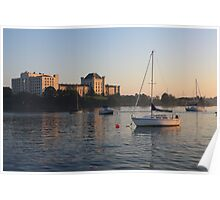 Naval Hospital and Boat Poster