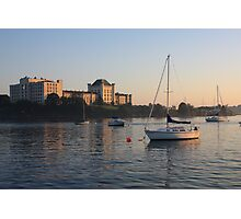 Naval Hospital and Boat Photographic Print