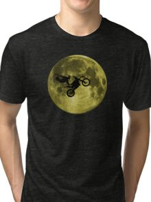 Awesome Freestyle in da moon - Motocross MX  Tri-blend T-Shirt