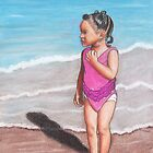 Girl at Beach by Paula Parker