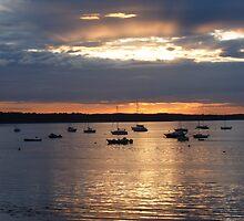 sunset in skerries by valjones