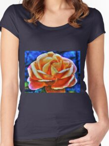 HDR flower Women's Fitted Scoop T-Shirt