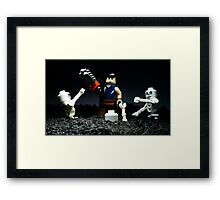 Surrounded by evil... Framed Print