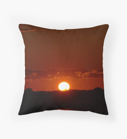Sunset on Hwy 10 Throw Pillow