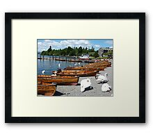 BOWNESS  ROWING BOATS  Framed Print