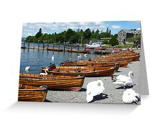 BOWNESS  ROWING BOATS  Greeting Card