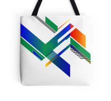 Blocky Retro Colors Tote Bag