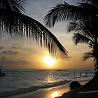 sunset in barbados by mark connell