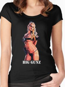 BIG GUNZ Women's Fitted Scoop T-Shirt