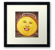 Smilling Cheese Framed Print