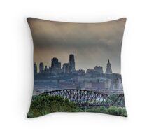 Kansas City (MO) Skyline Throw Pillow