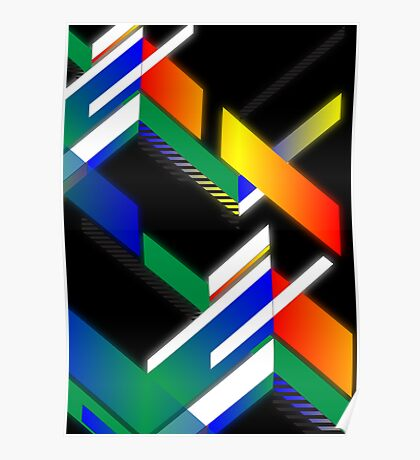 Retro square design Poster