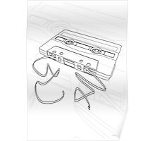 Cassette Tape White Background Poster