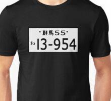 Initial D - HACHI ROKU License plate Unisex T-Shirt