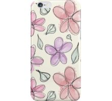 Digital Watercolor Flowers iPhone Case/Skin