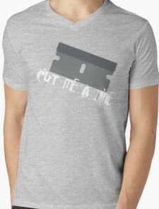 CUT ME A LINE Mens V-Neck T-Shirt