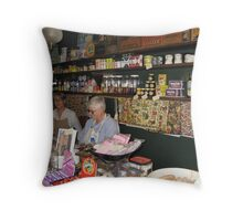 Susannah's Place General Store 1844 Throw Pillow